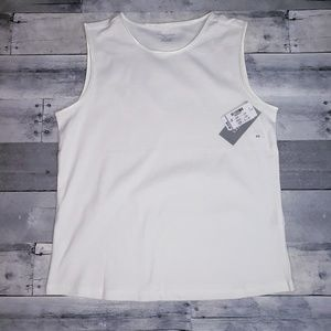 10/$25 NWT Christopher & Banks White Tank Top